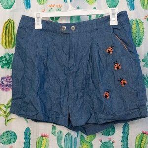 Modcloth Ladybug shorts Large